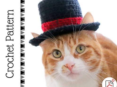 Top Hat for Cats - Crochet Pattern