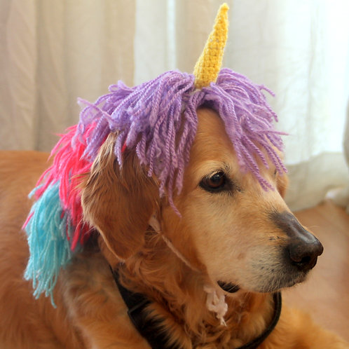 Sparkly Unicorn Dog Headband