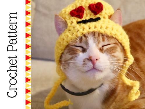 Heart Emoji Cat Hat Crochet Pattern