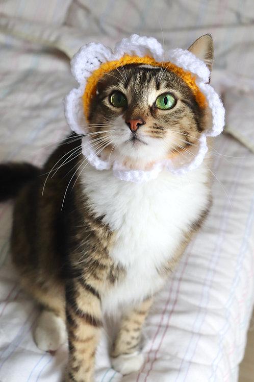 Daisy Flower Cat Hat