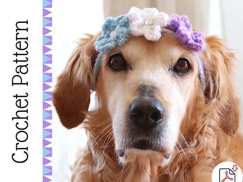 Dog Flower Headband Crochet Pattern