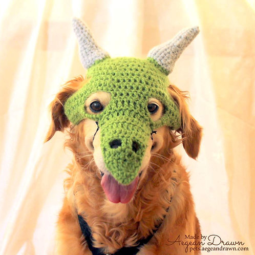 Dragon / Dinosaur Mask for Dogs