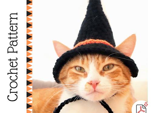 Witch Cat Hat Crochet Pattern