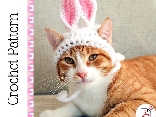 Bunny Ear Cat Hat Crochet Pattern