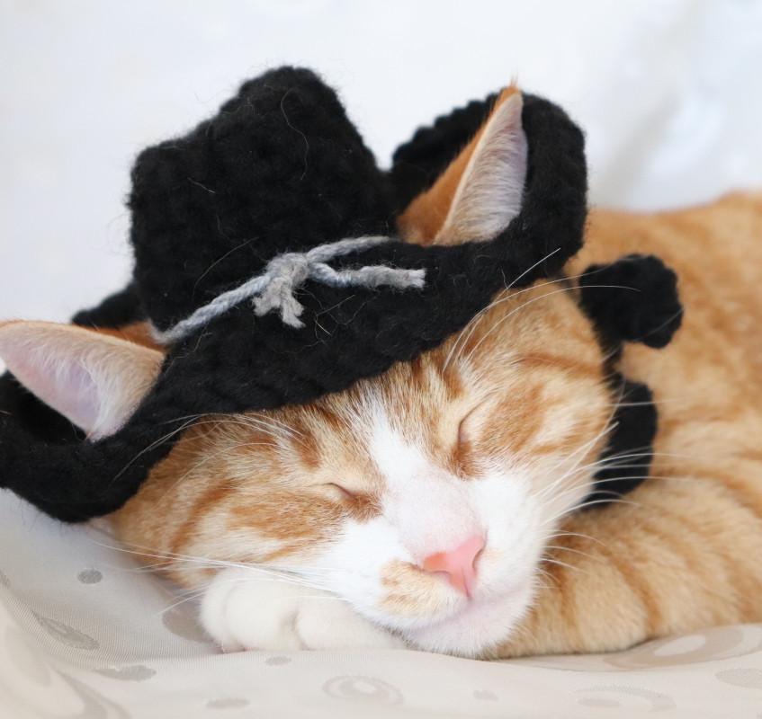 Black Cowboy Hat Set