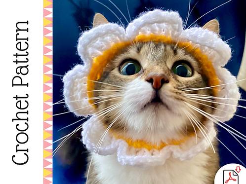 Crochet Pattern: Cat Flower Headband