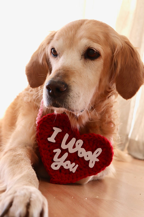 I Woof You Heart Sign for Dogs