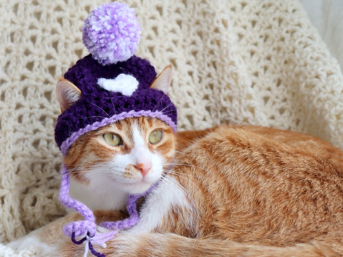 Purple Heart / Valentines Day Hats for Cat