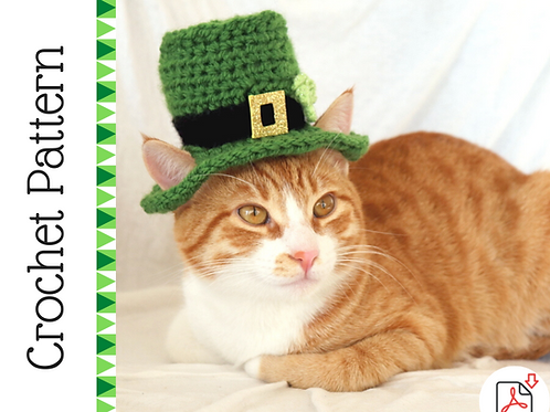 Leprechaun Cat Hat Crochet Pattern