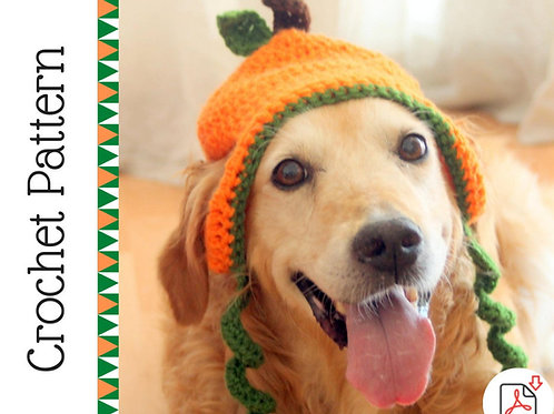 Pumpkin Dog Hat Crochet Pattern