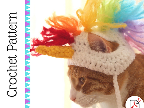 Unicorn Cat Hat Crochet Pattern