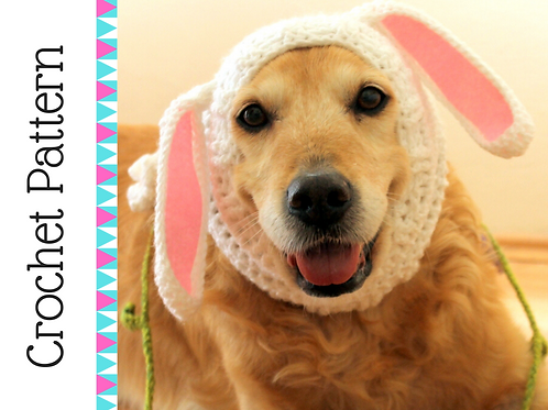 Bunny Snood for Dogs Crochet Pattern