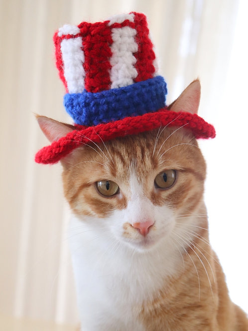 Uncle Sam Hat for Cats