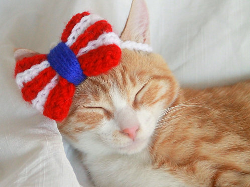 4th of July Bow / Bowtie for Cats and Small Dogs