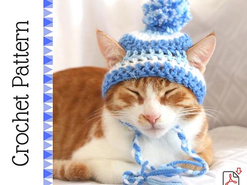 Striped Beanie Cat Hat Crochet Pattern