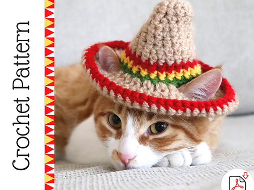 Cat Sombrero Crochet Pattern