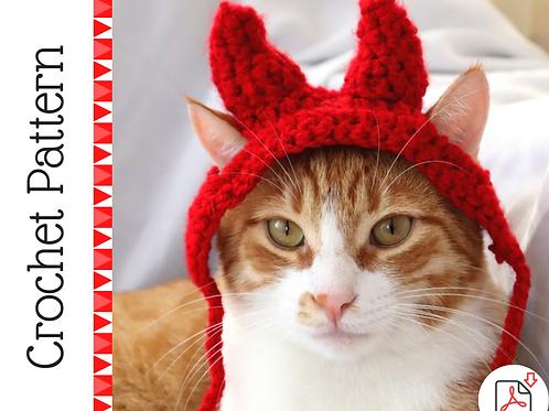 Devil Horn Cat Headband Crochet Pattern