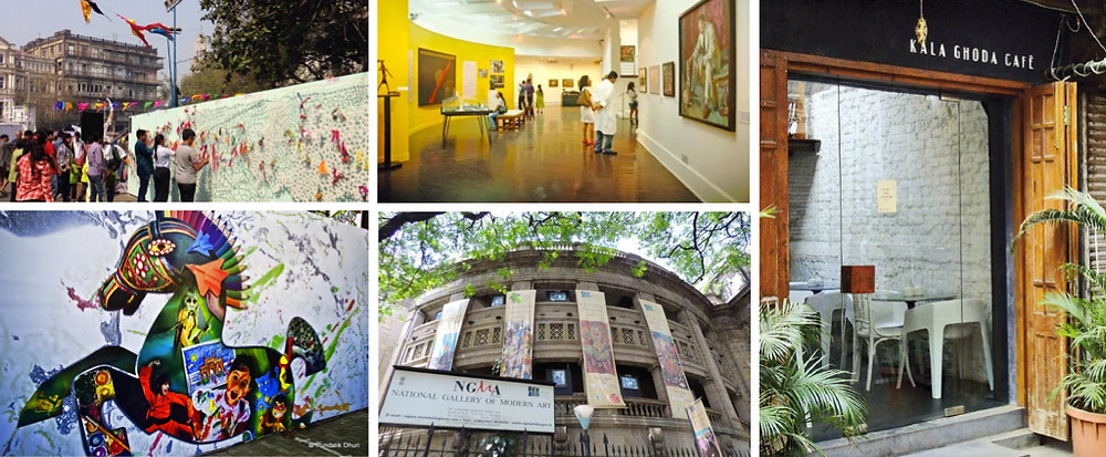 Kala Ghoda art district Mumbai & Kala Ghoda Cafe
