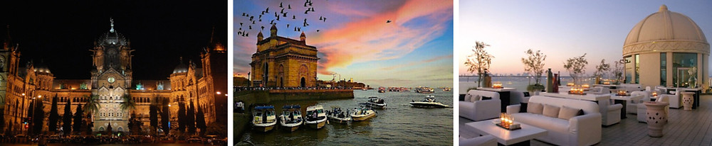 Chhatrapati Shivaji Maharaj railway station , Gateway of India , The Dome Mumbai