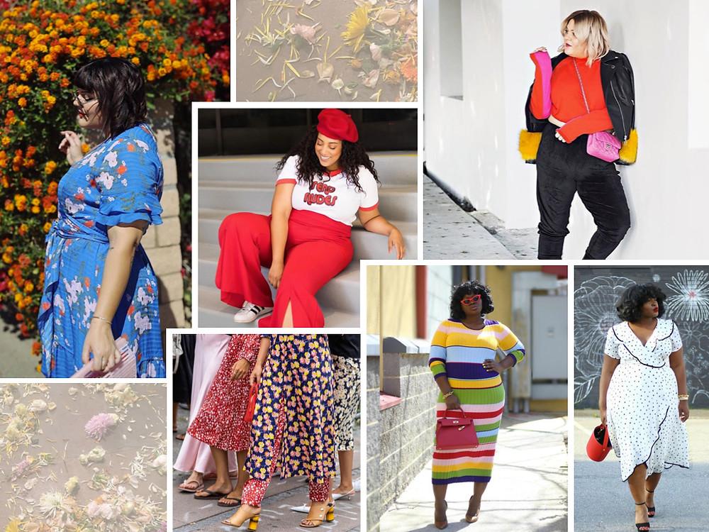 plus sizes women on print patterns fashion trend