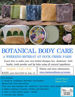 Botanical Body Care Retreat!