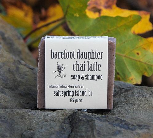chai latte soap & shampoo bar 185g