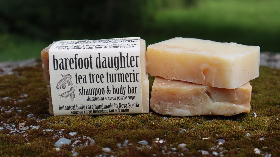 Tea Tree Turmeric Shampoo & Body Bar