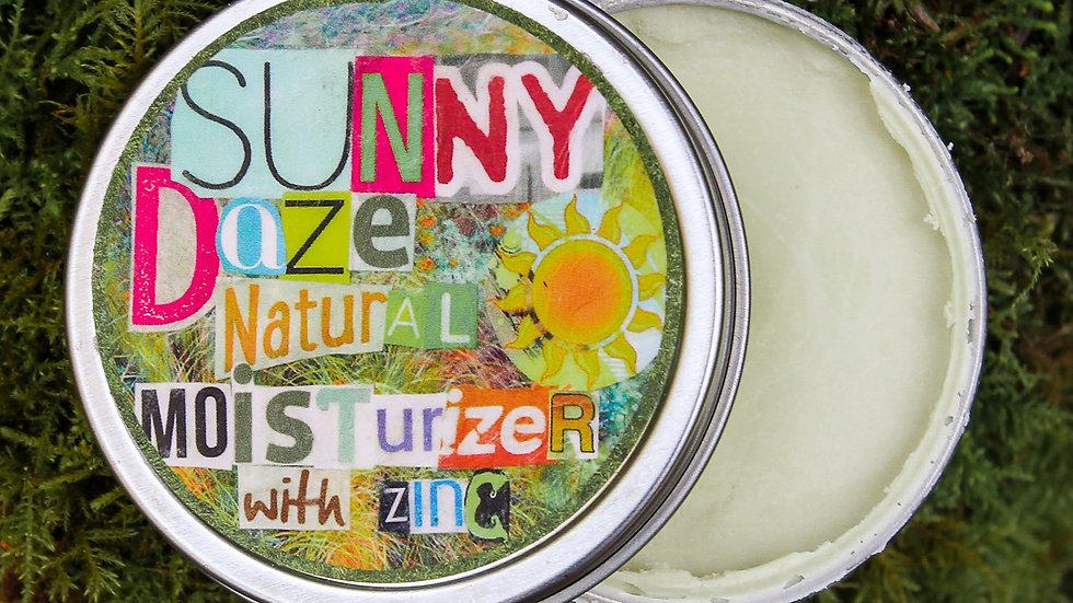 sunny daze: natural moisturizer with zinc