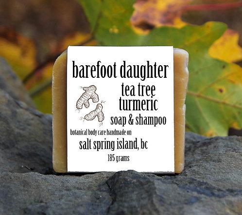tea tree turmeric soap & shampoo 185g
