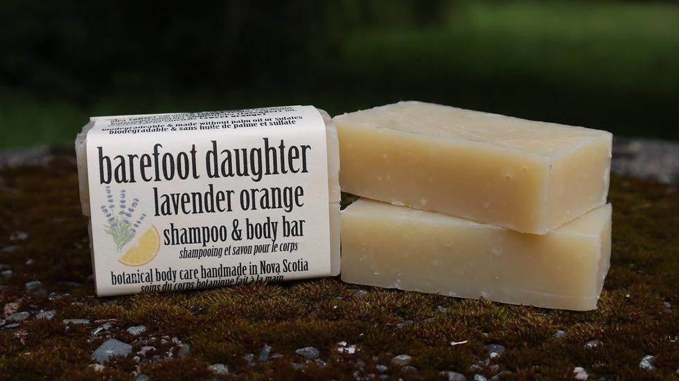 Lavender Orange Shampoo & Body Bar