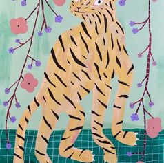 Tiger and Cherry Blossom
