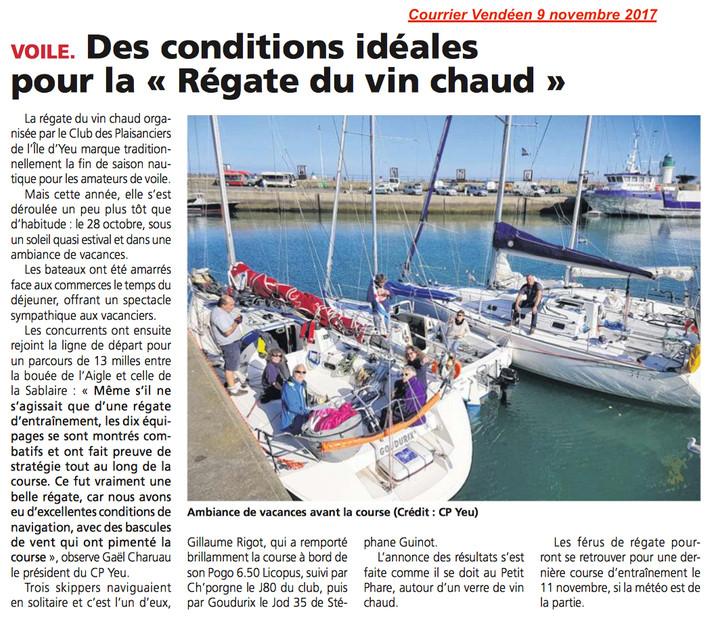 Dans la presse (Courrier Vendéen 09/11/17)