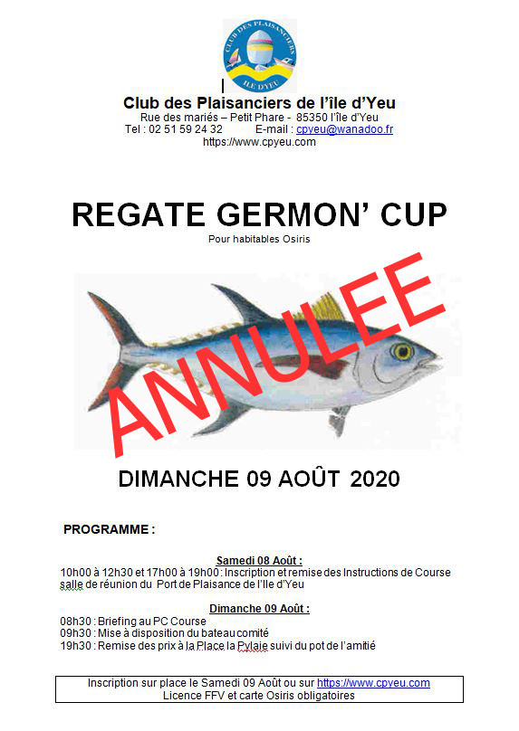 Annulation de la Germon Cup