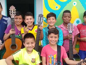 Progrès des jeunes musiciens en herbe à Nariño