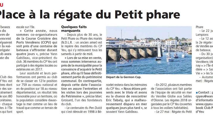 Régate du Petit Phare dans le Courrier Vendéens