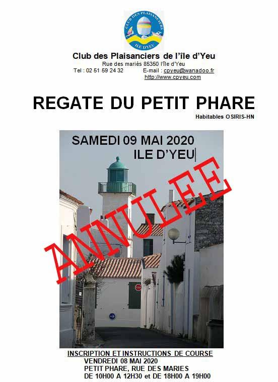 Annulation de la Régate du Petit Phare