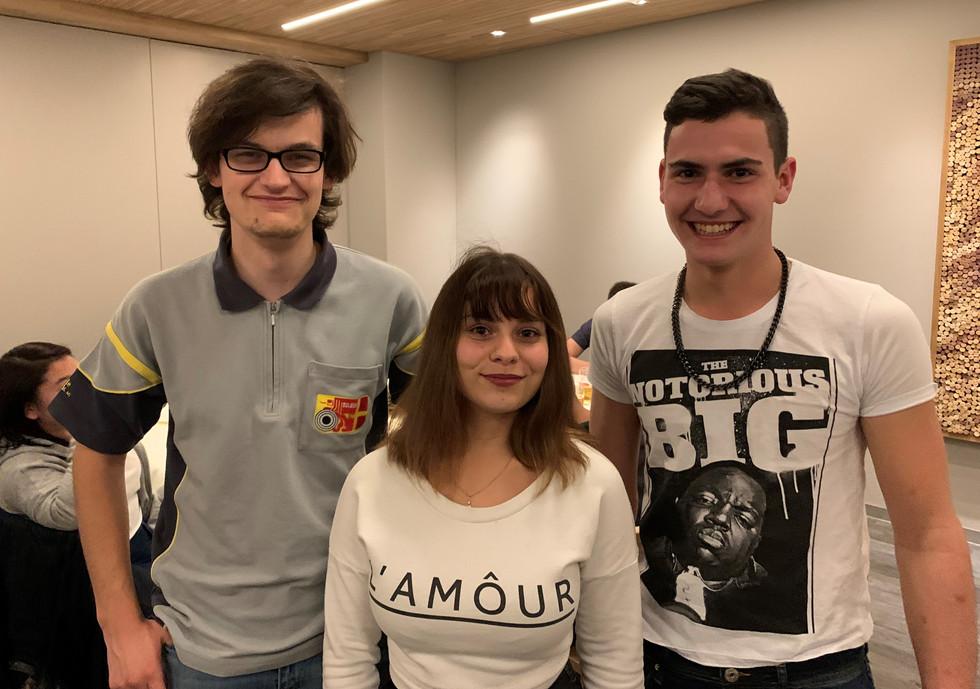 Liam Lauener, Miriam Segundo und Rafael Schmid