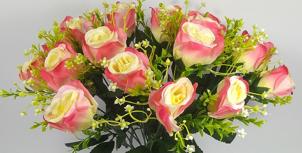 Τριαντάφυλλα μπουμπούκια  ροζ - Μπουκέτο