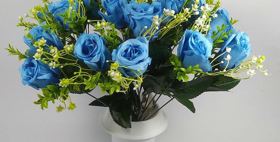 Τριαντάφυλλα μπακαρας μπλε - Μπουκέτο σε βάζο