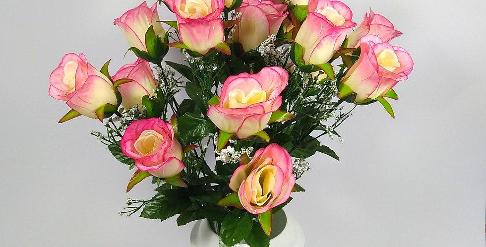 Τριαντάφυλλα μπακαρας τοζ - Μπουκέτο σε βάζο