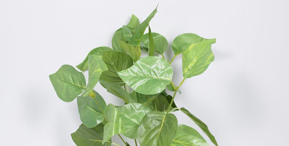 Μικρό μπουκέτο με τεχνητή πρασινάδα φύλλα λεμονιάς, ιδανικό για τοποθέτηση σε γλάστρα.