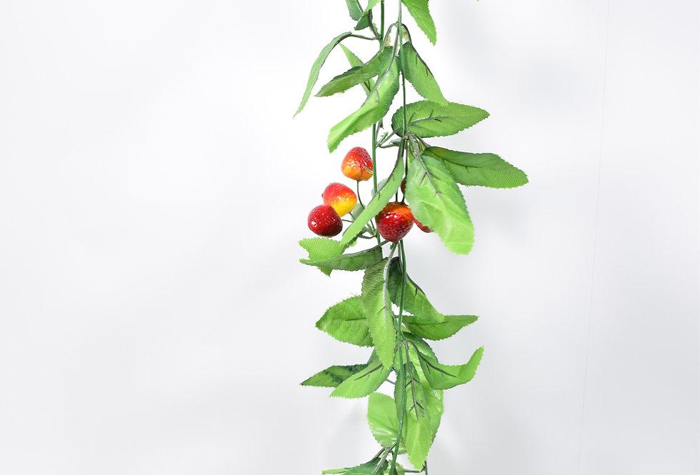 Γιρλάντα μεφύλλα και κρεμαστές φράουλες. Ιδανική για να διακοσμήσετε αυλές, πέργκολες ή για να καλύψετε σωληνώσεις.