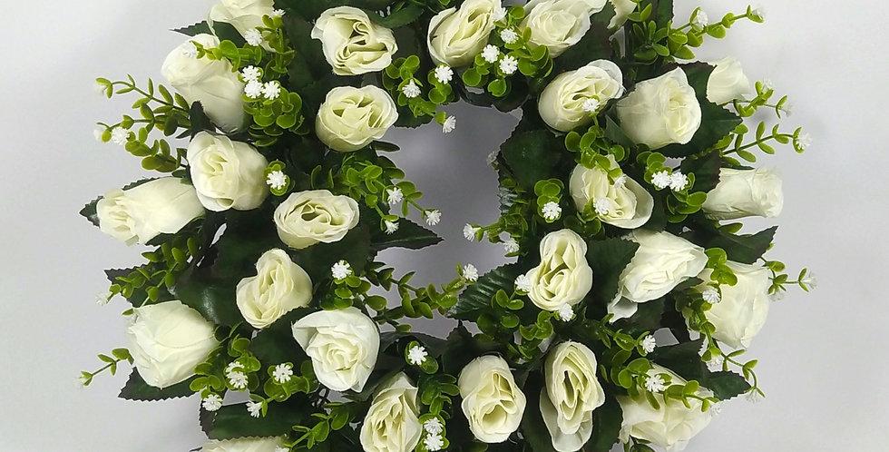 Λευκά τριαντάφυλλα - Στεφάνι