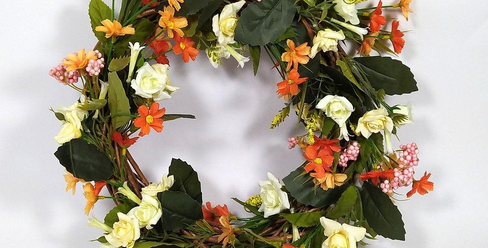 Τριαντάφυλλα με μαργαριτούλες - Στεφάνι