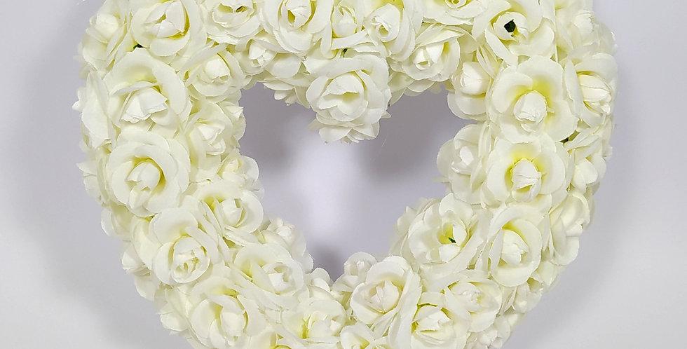 Καρδιά μεγάλη τριαντάφυλλα - Στεφάνι