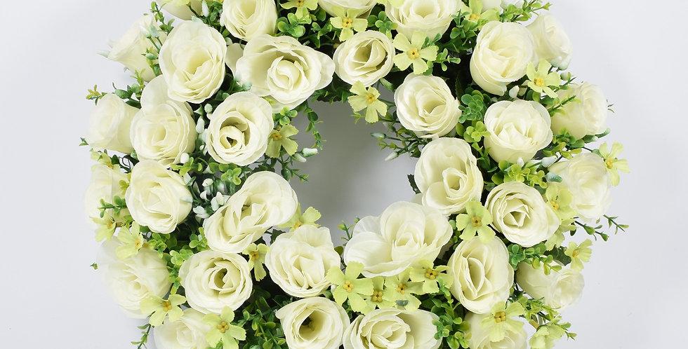 Τριαντάφυλλα  λευκά - Στεφάνι
