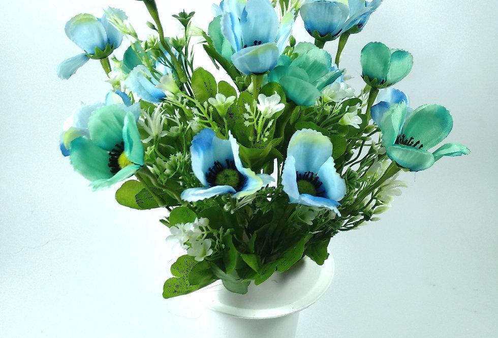 Ανεμώνες μπλε - Μπουκέτο σε βάζο