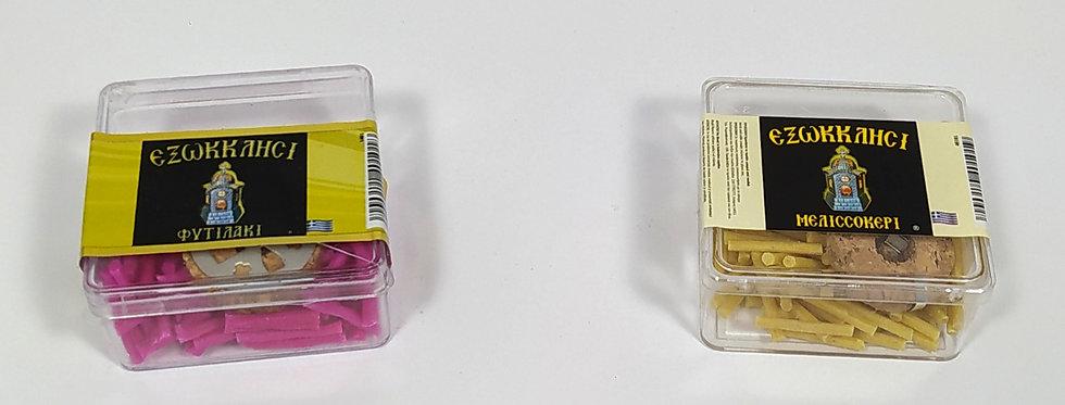 Φυτιλάκια παραφίνης με καντηλίθρα - κασετίνα