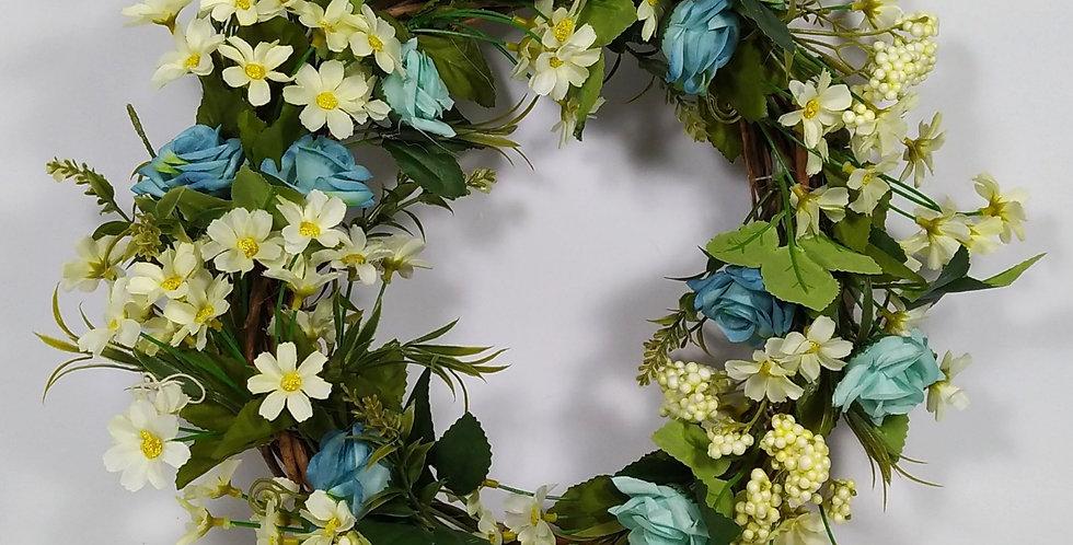 Τριαντάφυλλα με μαργαρίτες - Στεφάνι