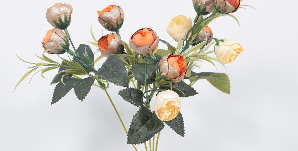 Μικρό μπουκέτο με τεχνητά άνθή (ψεύτικα λουλούδια) ,μικρές νεραγκούλεςσε 2 χρωματικούς συνδυασμούς μεταλλιζέ χρωμάτων.